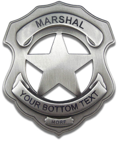 Authentic Old West Marshal Badge with Custom Engraving