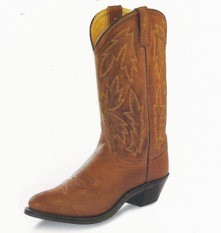 Old West Ladies Leather Cowgirl Boots