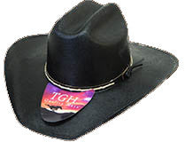 Canvas/Straw Black Cowboy Hat