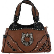 Western Handbag Horseshoe Brown