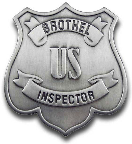Brothel Inspector Badge