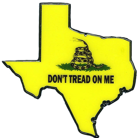 State of Texas Don't Tread on Me Automobile Emblem