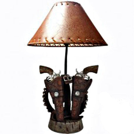 Old West Triple Pistol Lamp