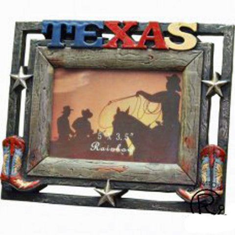 "Rustic Texas Picture Frame 6"" x 4"""