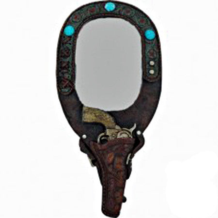 Old West Pistol Mirror
