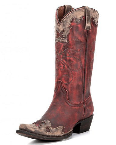 Nikki Boot – Vintage Red/Cinnamon