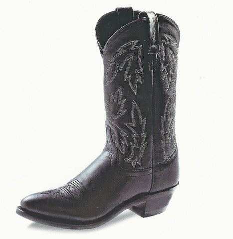 Old West Ladies Black Cowgirl Boots