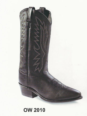 Old West Men's Black Cowboy Boot