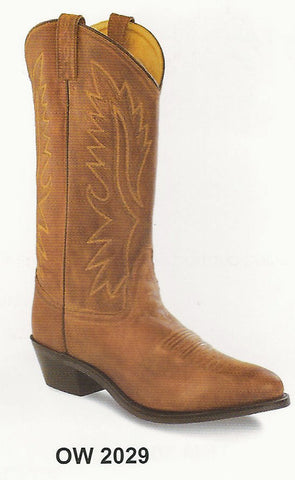 Old West Men's Tan Cowboy Boot