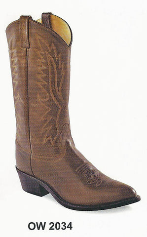 Old West Men's Brown Cowboy Boots