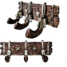 Old West Pistol Coat Rack