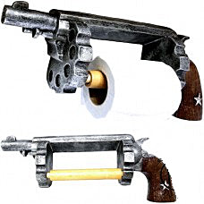 Old West Pistol Toilet Paper Holder
