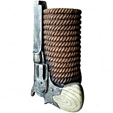 Old West Pistol Vase