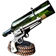 Old West Pistol Wine Bottle Holder