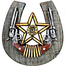 DB Star Bullet Star Horseshoe Plaque