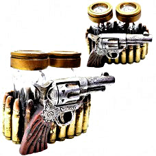 Old West Pistol Salt & Pepper Set