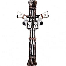 Old West Gun Cross