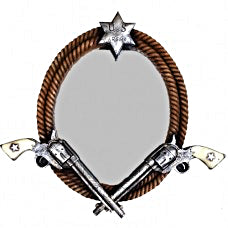 Old West Double Pistol Mirror