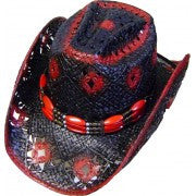 Red/Black Cowboy Hat