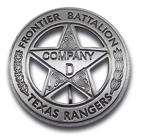 Texas Ranger Peso Back Co D Badge