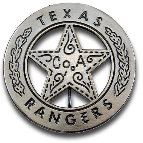 Texas Ranger Peso Back Badge