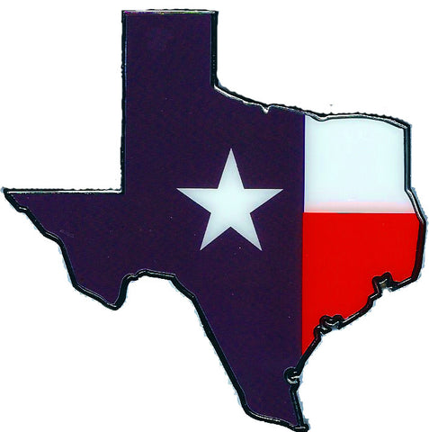 State of Texas Flag Automobile Emblem