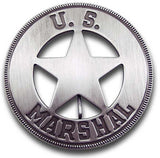 US Marshal Round Star Badge