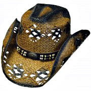 Cowboy Hat Black with Brown