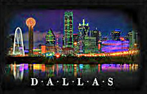 Dallas Skyline Texas Tee