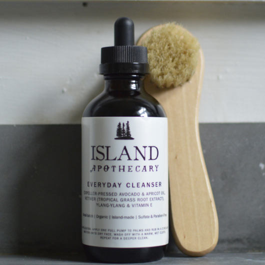 Wood Facial Cleaning Brush - Island Apothecary