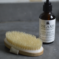 Natural Wood Body Brush | Body Brushing - Island Apothecary