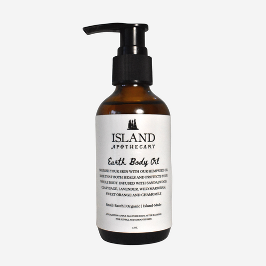 Organic Body Oil Earth Scent | Island Apothecary