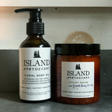 Floral Body Salt Scrub and Oil for Winter Skin