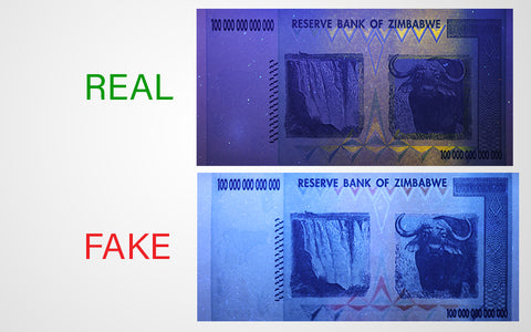 zimbabwe dollars under uv
