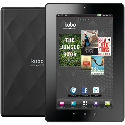 7-Inch Kobo Vox eReader/eBook 8GB Micro SD Slot WiFi Tablet (Black) - Novo Computers UK