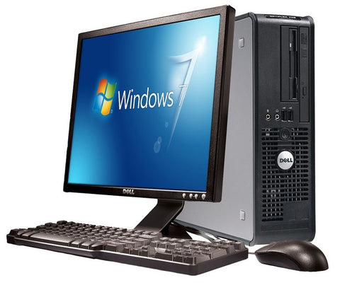 Refurbished - Dell Optiplex 780 Intel Core 2 Duo 4GB Ram 320GB Hard Drive Windows 7 Desktop Bundle (WiFi) + 19-Inch Monitor, Keyboard & Mouse