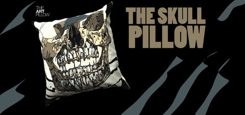 The amazing Skull Pillow.