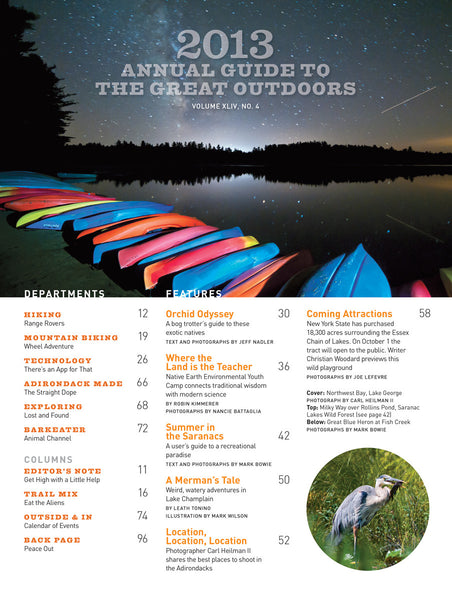 Adirondack Life Back Issue - Annual Guide 2013
