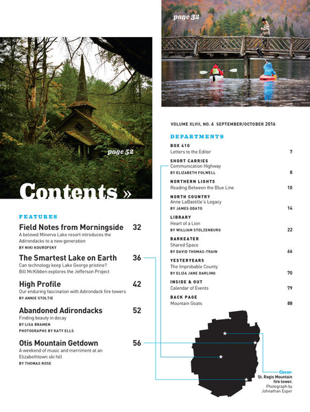 September/October 2016 issue - Fire Towers