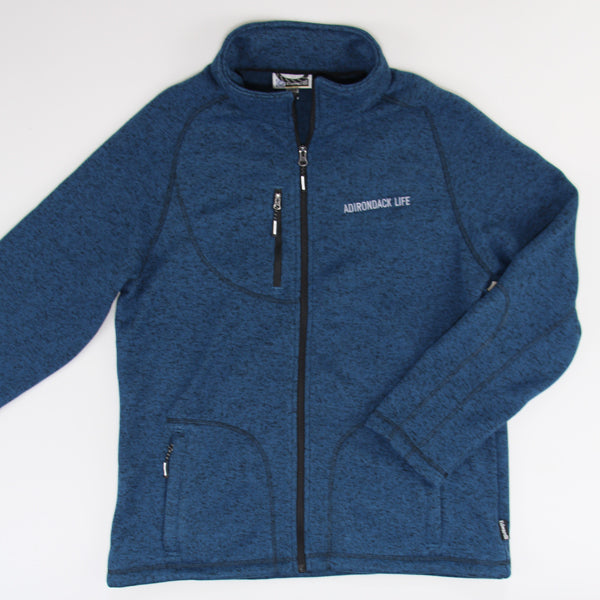 Men's Blue Heather Full Zip Jacket
