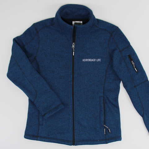 Women's Blue Heather Full Zip Jacket