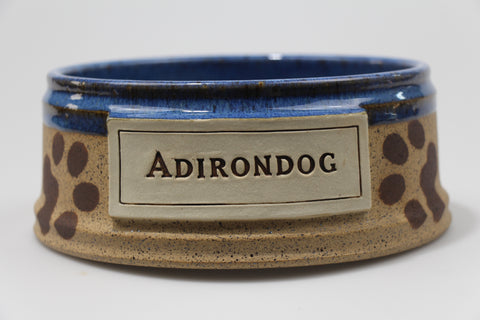 Blue Adirondog Pet Bowl