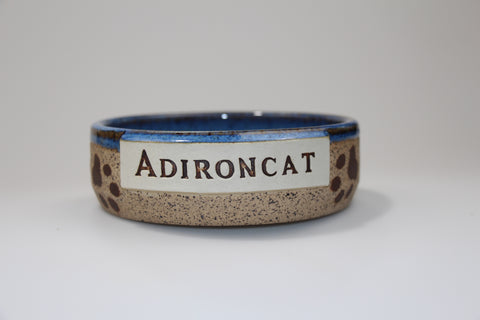 Blue Adironcat Pet Bowl