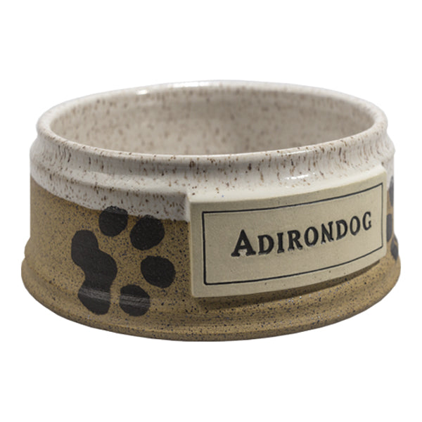 Cream Adirondog Pet Bowl