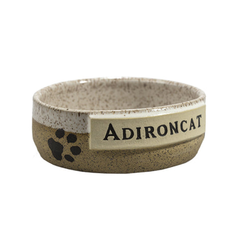 Cream Adironcat Pet Bowl
