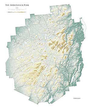 Relief Map - Laminated