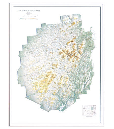 Adirondack Park Raised Relief Map