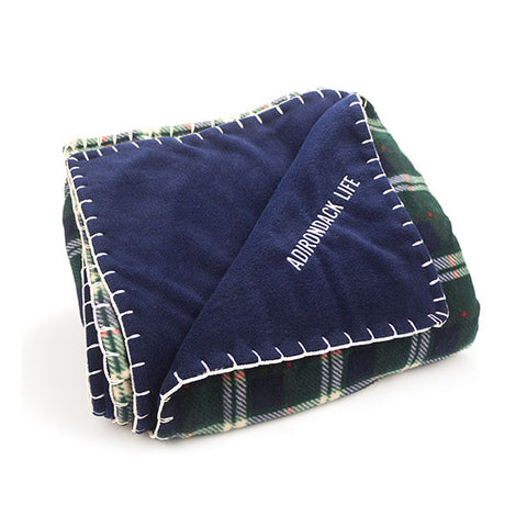 Green Plaid Fleece Blanket