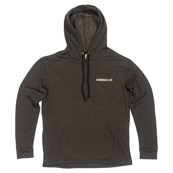 Heather Black Hooded Sweatshirt