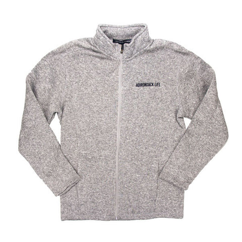 Gray Ladies Full Zip Fleece